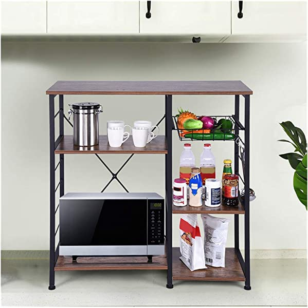 Makaor 3 4 Shelf Industrial Bookshelf Bookcase Open Etagere Bookcase With Metal Frame Rustic Book Shelf Storage Display Shelves Home Office Furniture Ship From US Vintage 35 4x15 7x30 7in