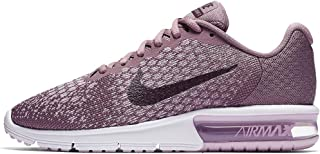 Nike Women's Air Max Sequent 2 Running Shoe, Size 6.5, Taupe Grey/Port Wine-Plum Fog-ICED Lilac