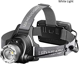 RMXMY LED Head Torch, LED Headlamp Headlight Super Bright Head Lamp Flash Light Helmet Light for Running Camping Hiking Fishing