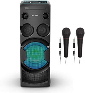 Sony MHC-V50 High-Power Home Audio System (Bluetooth, Karaoke, LED Touch Panel, NFC, Guitar Input, and Motion Control) Plus 2 Bonus Sony Mics