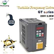 Vector Control CNC VFD Variable Frequency Drive Controller Inverter Converter 220V 2.2KW 3HP for Motor Speed Control HUANYANG GT-Series (220V, 2.2KW)