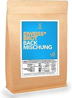 Eiweiß-Brot-Backmischung 800g   Für 2 Brote   Nur 25min Backzeit und 5min Vorbereitung   24% Protein