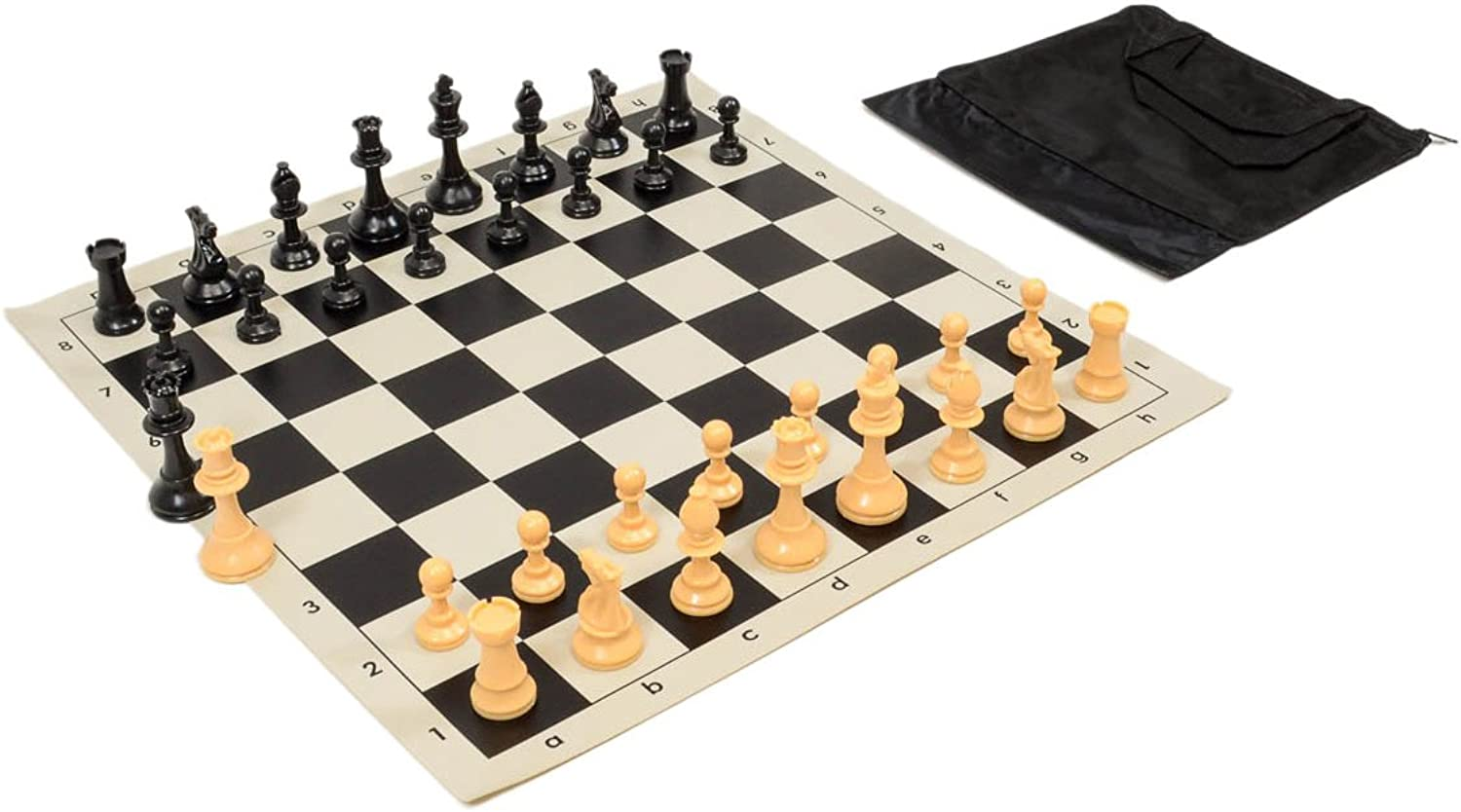 Wholesale Chess Quality Starter Chess Set Combo  Black Chess Board & Bag