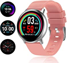 TagoBee TB15 Reloj móvil Ip67 Waterproof Smart Watch 1.22'' IPS Color Screen Activity Watch Fitness Trackers con monitor de presión arterial, monitor de sueño, podómetro, Call&SMS notificaciones(Rosa)
