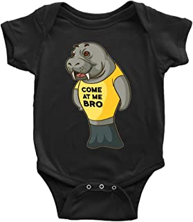 Manatee Come at Me Bro Commercial Novelty Romper Bodysuit for Baby Boy Baby Girl