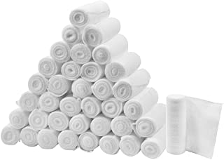 "FlexTrek Premium 36-Pack 3 Inch Conforming Stretch Gauze Bandage Rolls - Latex Free - 3"" x 4.1 Yards Stretched."