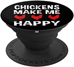CocomoSoul-Mobile Chickens Make Me Happy Chicken Lover PopSockets Stand for Smartphones and Tablets - PopSockets Grip and Stand for Phones and Tablets