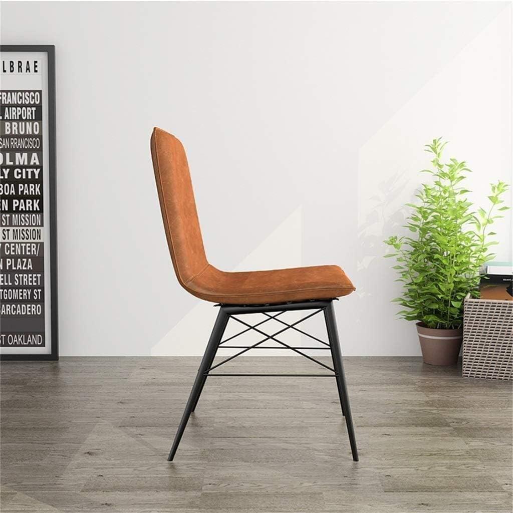 XYFJD Chaise De Bureau Chaise De Salle À Manger Chaise De Loisirs Créative Chaise De Loisirs À La Maison Dossier Inclinable (Color : Khaki) Brown