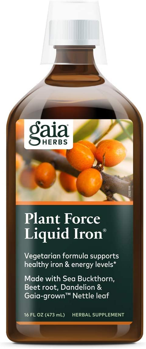 sold out Gaia 100% quality warranty Herbs PlantForce Liquid Iron Supplement - 16 Ounce Support