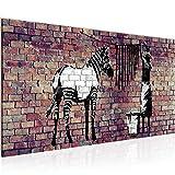 Bilder Banksy Washing Zebra Wandbild Vlies - Leinwand Bild