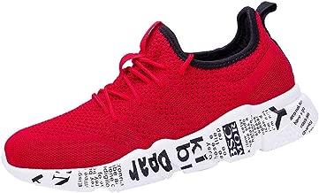 Zapatillas Deportivas Running Hombre Zapatos Correr Sneakers Párrafo Basico Color sólido Malla Respirabl Correa Cruzada Zapatos para Caminar Sports Shoes riou