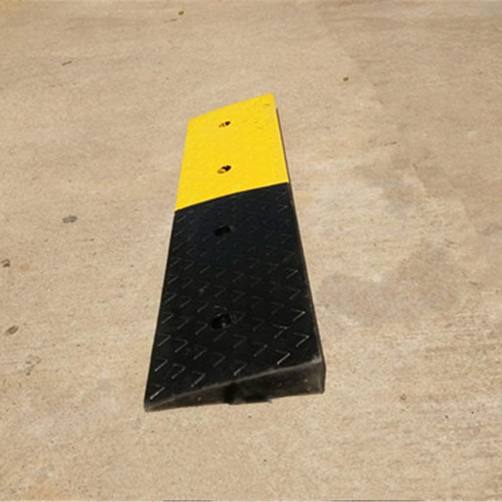 11 way bike CSQ-Ramps Ramps for Motorbikes Cars 6CM Kerb Ramps Mobility Scooters Kerb Ramps Heavy Duty Rubber Ramps Material Handling Ramps Color : Black+Yellow, Size : 100256CM