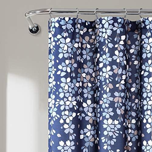 Cobalt blue shower curtain _image3