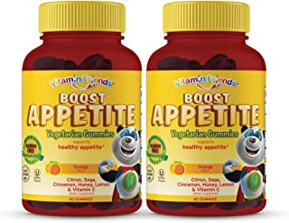 Vitamin Friends - All Natural Children's Appetite Stimulant and Weight Gainer - Kids Boost Appetite Gummies to Support Healthy Immune System and Energy Levels, Orange Flavor Vitamin, 60 Count