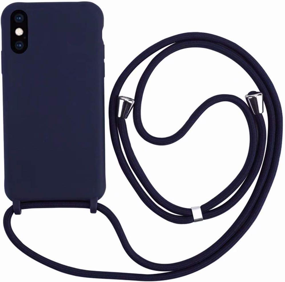 2ndSpring Coque avec Collier Compatible avec iPhone X//XS 5.8,Tour de Cou Lani/ère en Corde Pendentif Housse,Vert fonc/é