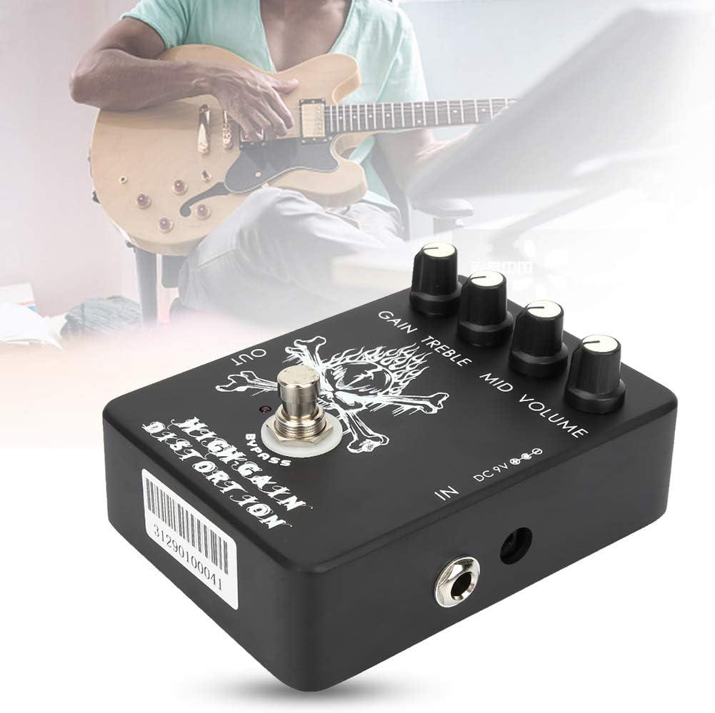 Pedal De Guitarra De Distorsión, Pedal De Dispositivo De Efecto De Guitarra Pedal De Efecto Eléctrico Práctico Para Practicar Para Músicos