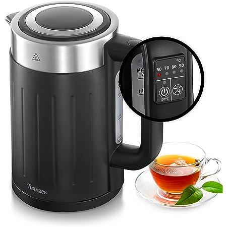 Bouilloire Thermostat Réglable 50-100°C - Bouilloire Electriques Grande Puissance 2200 W - Technologie brevetée STRIX - Design Retro - Sans BPA - Base 360°