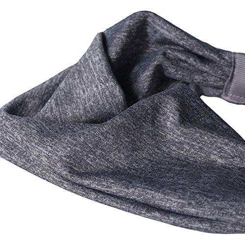 Tagvo Sport Stirnband, 3 Pack Elastisches Haarband Antirutsch Feuchtigkeitstransport Breites Stirnband Athletisches Schweißband für Männer und Frauen – Fit für Runing, Yoga, Radfahren, Basketball - 3