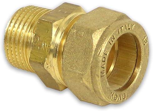 IG 3//8 12 mm x DN 10 Klemmringverschraubung aus Messing