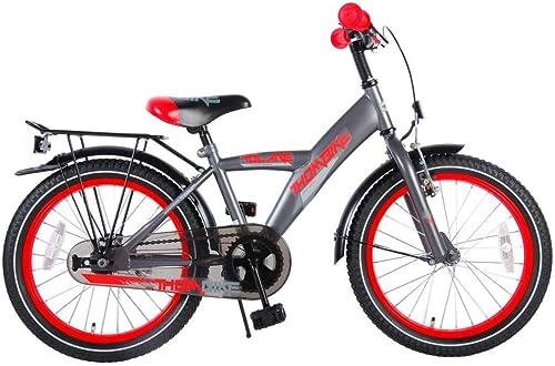 70% de descuento .Volare Bicicleta Niño 18 18 18 Pulgadas Thombike con y Portaequipajes Trasera gris rojo 95% Montada  marcas de diseñadores baratos