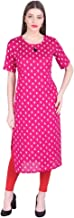Vihaan Impex Indian Womens Casual wear Party wear Top Tunic Pink Kurti