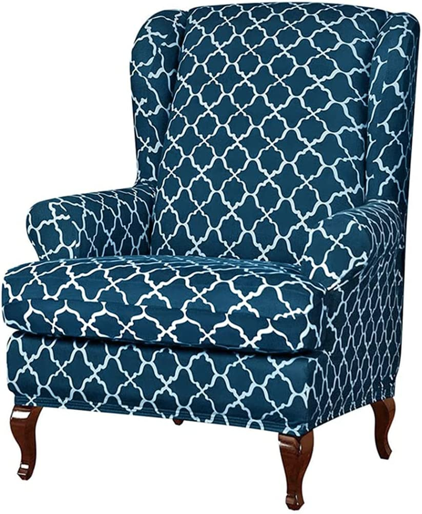 YUENA CARE Wing 日本正規品 Chair Cover Slipco Stretch Spandex Printing スーパーセール High
