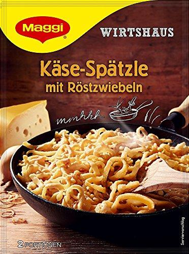 Maggi Wirtshaus Käse-Spätzle mit Röstzwiebeln, 12er Pack (12 x 119 g)