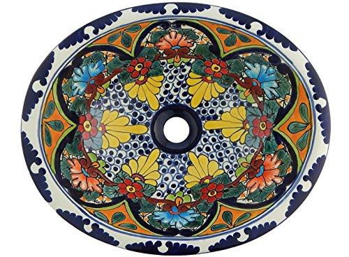 Mexikanisches Waschbecken Handbemalt 16 x 11,5 cm # 212