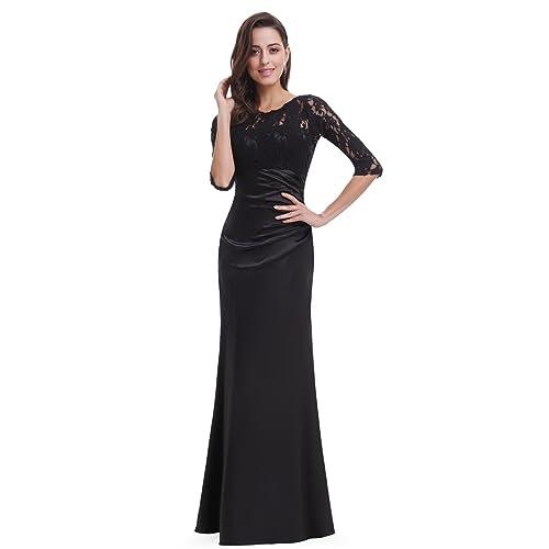 394e06e8c9ac1 Ever-Pretty Elegant Lace Long Sleeve Formal Floor Length Evening Dress 09882