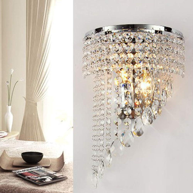 Kristall Wandleuchte Moderne, E27 Lampenfassung Moderne E27 Lampenfassung Wandlampe Kreativ Schlafzimmer Wohnzimmer Restaurant Corridoio-21x32cm
