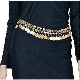 Barode Coin Tassel Body Chains Fashion Beach Bikini Belly Button Chain Shiny Body Accessories for Women and Girls(Gold)