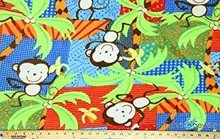 Monkey Fever Anti-Pill Polar Fleece - Plush Fabric Polyester 13 Oz 58-60