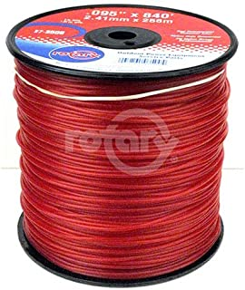 Rotary Corp Trimmer Line .095 3lb Spool Red Commercial