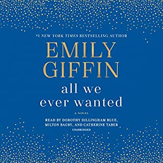 All We Ever Wanted     A Novel              Written by:                                                                                                                                 Emily Giffin                               Narrated by:                                                                                                                                 Dorothy Dillingham Blue,                                                                                        Milton Bagby,                                                                                        Catherine Taber                      Length: 10 hrs and 29 mins     168 ratings     Overall 4.4