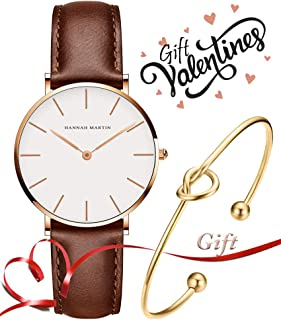 Valentines Gifts Women's Rose Gold Watch Analog Quartz Stainless Steel Mesh Band Casual Fashion Ladies Wrist Watches with Love Knot Bracelet Gift