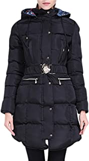 Happy Sailed Women Winter Warm Cotton Quilted Slim Fit Casual Outerwear Hooded Long Down Coat M-XXL