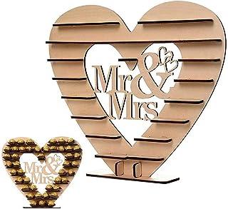 Mr & Mrs Ferrero Rocher Soporte de Madera con Forma de corazón para Bombones, decoración