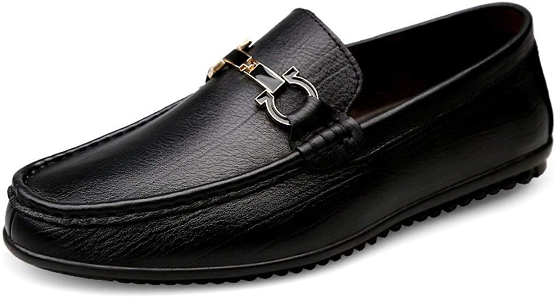 HhGold Jungen Männer Snap Slip-on Slip-on Slip-on Runde Zehe Schwarz Casual Loafers Stiefelschuhe UK 9.5 (Farbe   -, Größe   -)  4ea422
