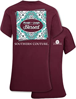 SC Classic Thankful Grateful Blessed Womens Classic Fit T-Shirt - Maroon