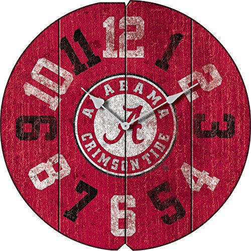 Imperial Officially Licensed NCAA Merchandise: Vintage Round Clock, Alabama Crimson Tide