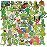 WWJIE Rana Kermit Pegatina de Dibujos Animados portátil Guitarra Equipaje refrigerador teléfono monopatín Impermeable Graffiti Pegatina calcomanía Juguete para niños 50 Uds
