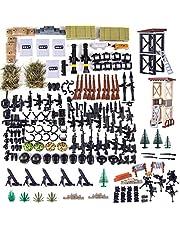 SEREIN Militär vapenset miljitär leksakshjälm och vapset för soldater minifigurer SWAT team polis, kompatibel med Lego