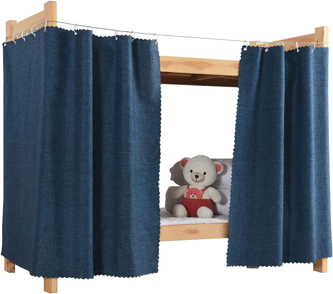 Buy Teanea Full Size Bottom Bunk Bed Blackout Curtains Privacy Cloth For Men Women Students 2 Panels Navy Online In Taiwan B0913dd1dz