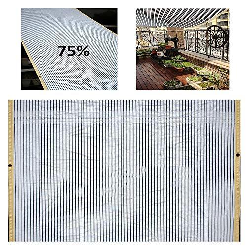 ZAZAP Harz Sonnenschutznetz, Sonnensegel, Schwarz Und Weiß Design, Reflektierende KüHlung, Verwendet In Garten Garten Carports, Etc.