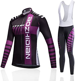 Cycling Skin Suit Autumn Women's Bicycle Racing Suit Long Sleeve Breathable Cycling Moisture Wicking Moisture Wicking Suit