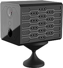 Homyl Câmera compacta HD escondida espiã WIFI premium com visão noturna fosca para detecção de movimento no quintal do arm...