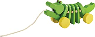 PlanToys (5105) Wooden Dancing Alligator Push and Pull Toy
