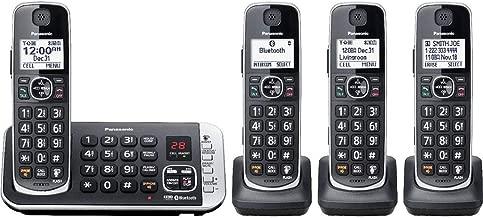 Panasonic KX-TGE674B Expandable Cordless Phone System with Digital Answering System - Black (Renewed)
