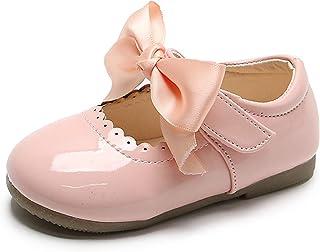 Zapatos para niños pequeños Color sólido Casual Lindo Bowknot Mary Jane Zapatos Planos niñas Suela Suave Antideslizante Pr...