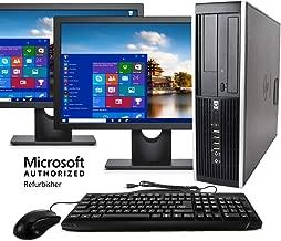 HP Elite Desktop Computer, Intel Core i5 3.2 GHz, 8 GB RAM, 500 GB HDD, Keyboard & Mouse, Wi-Fi, Dual 19